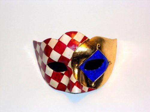 colombina scacchi e foglia oro
