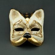 gatto con quadrati musica e foglia d'oro