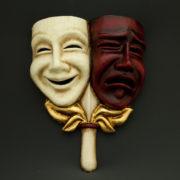 tragedia commedia craquelé e rossa