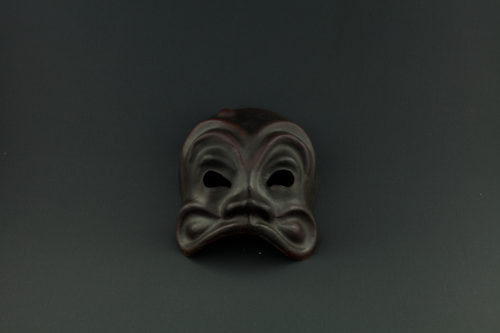 maschera arlecchino marrone