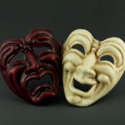 tragedia e commedia rossa e craquelé
