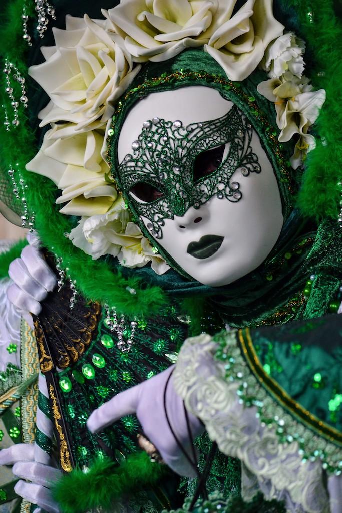 maschera con ventaglio