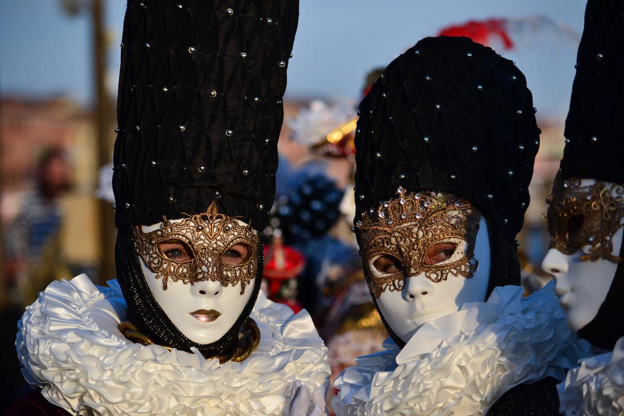 trio di maschere